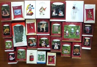 Lot of 26 HALLMARK EMPTY BOXES - NO Ornaments- Keepsake Ornament BOXES ONLY