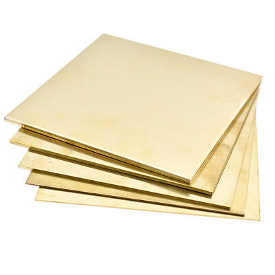 Brass Metal Thin Sheet Plate Shim 100x100mm Metalworking 0.8mm/1mm/1.5mm/2mm/ Cp