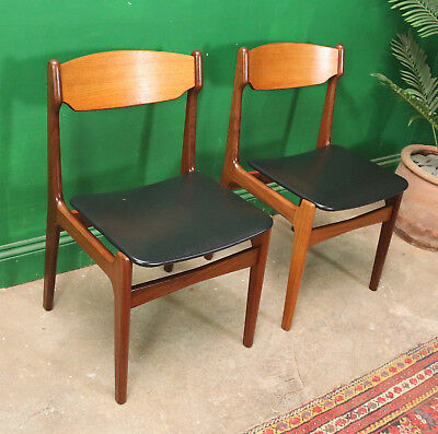 Remarkable Pair Mid Century Teak Dining Chairs Mid Century Retro Gmtry Best Dining Table And Chair Ideas Images Gmtryco