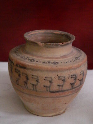 Ancient Teracotta Painted Pot With Animals Indus Valley 2500 BC #CCH2