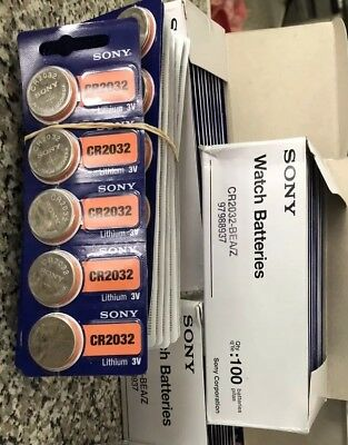 Sony CR2032 / 3V Button Coin Cell Battery /5pcs ( EXP2028) USA Seller