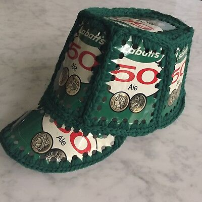 16a547671f991 Vintage Labatts 50 Ale Handmade Crochet Beer Can Hat Canada Rare