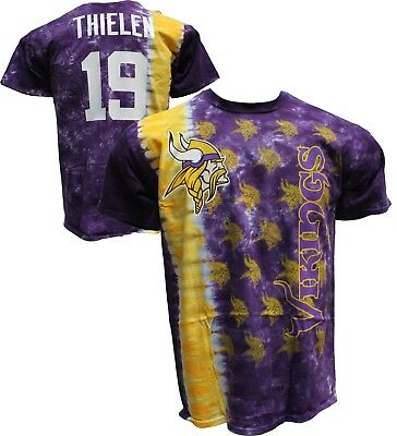 30e3d50ed Official MINNESOTA VIKINGS Tie Dye Vertical T-Shirt Adam Thielen WR  19