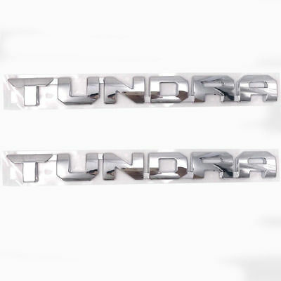 TOYOTA TUNDRA emblem logo badge Tundra Side Door Emblem CHROME 2PCS