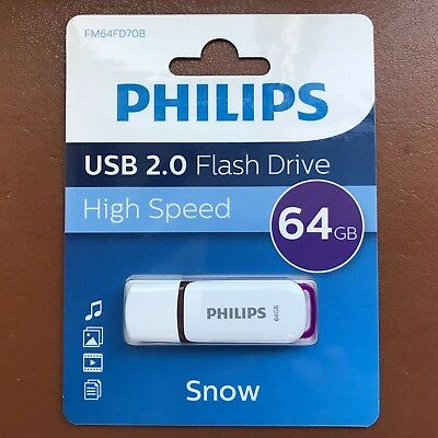 PHILIPS 64 GB SNOW HIGH SPEED USB Flash Drive Memory Stick Pen Drive