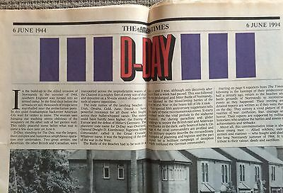 D-Day Souvenir supplement - The Times 6th June 1994 (50th Anniversary)