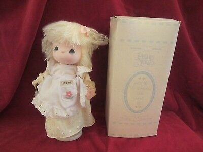 """Nib Precious Moments *home Is Where The Heart Is* 12"""" Musical Doll - Jessy"""