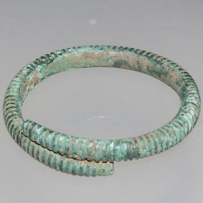 PERFECT-Bronze Age European Bronze Bangle Bracelet Circa 2500-1500 BC