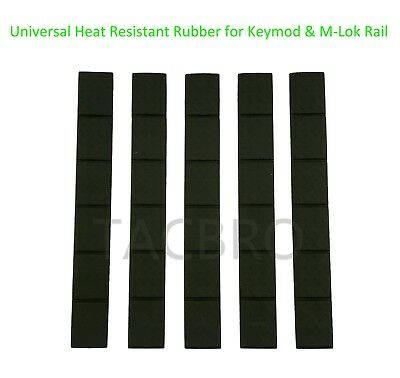 "Trinity Force 4.7"" Protective Rail Covers Pack of 5 For KeyMod and M-LOK, Green"