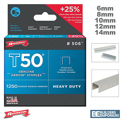 Arrow T50 Staples Pack Of **5000** - 6, 8, 10, 12 & 14mm