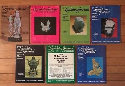 1970 The Lapidary Journal 6 issues + buyers guide gold jade opal emerald agate