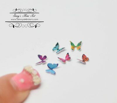1:12 Dollhouse Miniature Butterflies 6 Assorted / Miniature Butterfly/Miniatures
