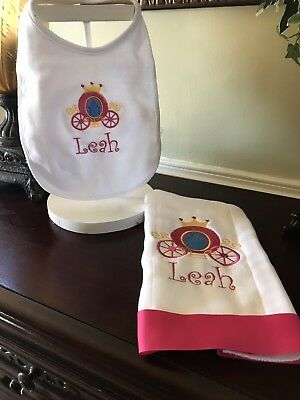 Personalized Burp cloth And Bib