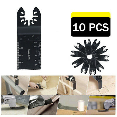 10PCS Dewalt Multi Tool Oscillating Saw Blades For Fein Multimaster Makita Bosch