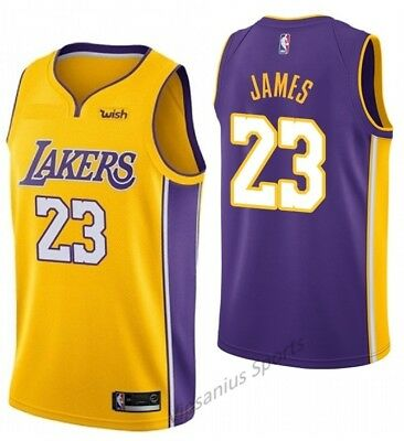 #23 LA Lakers LeBron James NBA Basketball Jersey - gold/purple S - XXL