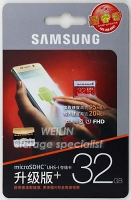 Samsung 32GB EVO Micro SD TF 95MB/s Class 10 UHS-I SDHC Memory Card For Android
