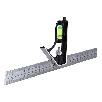 """12"""" 300mm Adjustable Engineering Combination Square Set Right Angle Ruler 1PC AU"""
