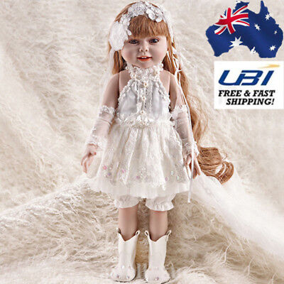 Lovely Princess Toddler Girl Lifelike Huggable Vinyl Toy Reborn Doll Gift Set AU