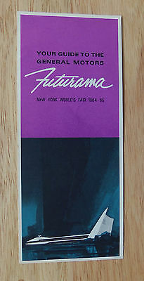 1964-65 New York World's Fair Your Guide To The General Motors Futurama Pamphlet