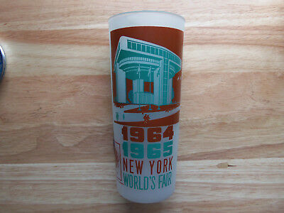 1964-65 New York World's Fair Frosted Tea Glass - Port Authority Building