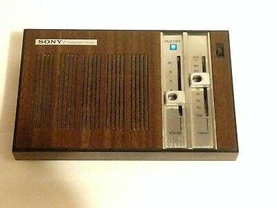 Sony TR-1835 AM Transistor Radio Integrated Circuit Solid State Vintage
