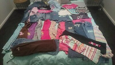 Girls Bulk Lot Of Surfbrand Clothing 31 items billabong ripcurl roxy