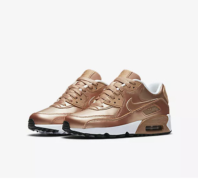 new arrival 24983 0a2eb Nike Air Max 90 Se Leather Metallic Red Bronze Unisex Trainers Size U.k 4.