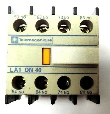 Lot of 9 TELEMECANIQUE LA1DN40 Auxiliary Contact Block