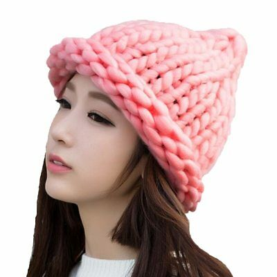 Women S Hat Cap Beanie Cotton Wool Winter Hats Thick  Warm Knit Woman Gift
