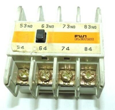 Lot of 2 Fuji SZ-A40 Electric Auxiliary Contact Block,