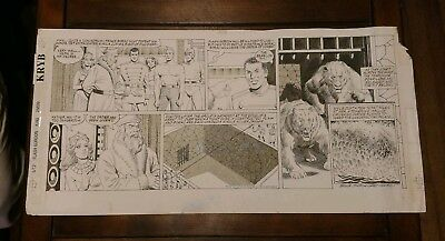 Flash Gordon Sunday Original Art By Gray Morrow
