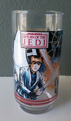 Star Wars - Return Of The Jedi - Burger King Coca Cola Glass Tumbler - 1983