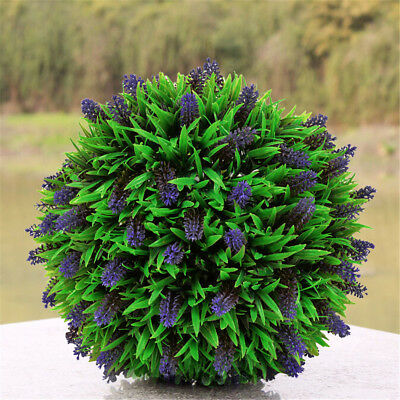 1//Pair Artificial Topiary Lavender Lush Flower Ball Chain Hanging Door Christmas
