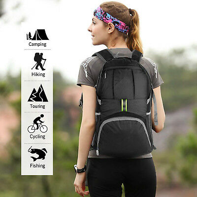 Foldable Waterproof Outdoor Sports Backpack Camping Hiking Travel School Bag AU