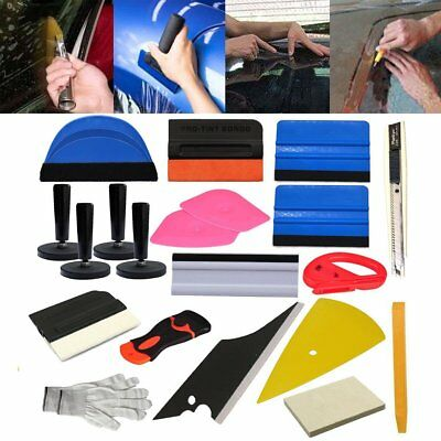 PRO Car Wrap Vinyl Tools Kits Squeegee Felt Window Tint Decals Stickers Combo BT