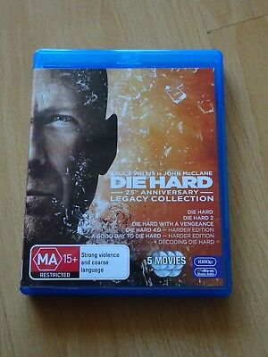 Die Hard - Legacy Collection (Blu-ray, 2014, 6-Disc Set), New and Region B