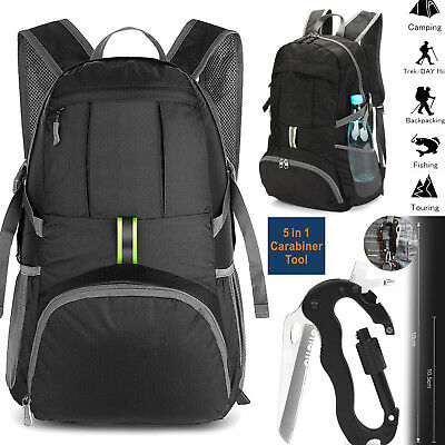 Portable Foldable Waterproof Travel Backpack Daypack Bag Sports Camping Hiking