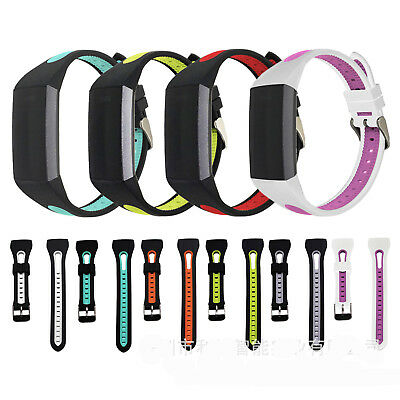 Sport Silicone Strap Classic Buckle Watch Wrist Band For Fitbit Charge 3
