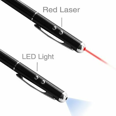 Laser Pointer Illumination Stylus 4in1 LED Black Pen For Capacitive Touch Screen
