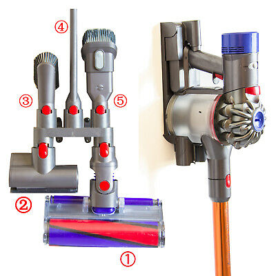 For Dyson V7 V8 V10 Wall Mount 5 Accessory Tool Attachment Storage Rack Holder