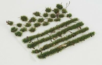 WWS Forest Ground 4mm Self-adhesive Static Grass Tufts and Strips Set. WWG