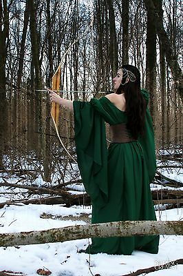 I-D-D Medieval Renaissance Faire Huntress Lady  Archeress Gown Dress