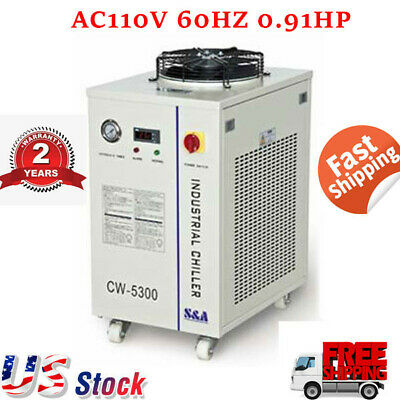 US STOCK CW-5300DI Industrial Water Chiller AC110V 60HZ 0.91HP Water Chiller CE!