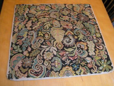 """Antique19th Century Needlepoint Panel Abstract Floral 22x23"""""""