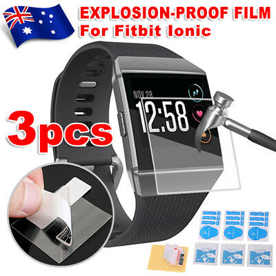3Pcs Explosionproof Waterproof Ultra LCD Screen Film Protector For Fitbit Ionic
