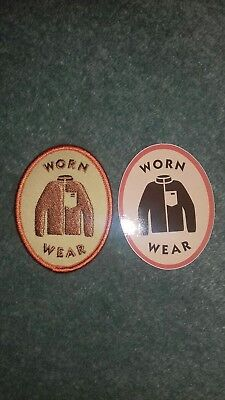 Collectable Rare 1 Patagonia Sticker And 1 Cloth Sew On Badge