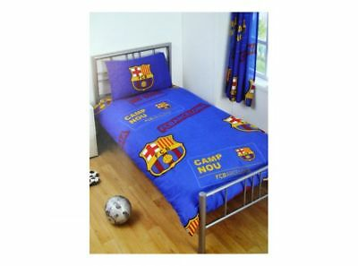Fc Barcelona Single Duvet Quilt Cover Set Boys Bed New  Gift