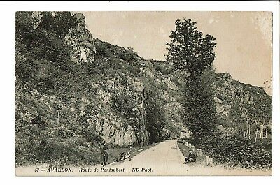 CPA-Carte postale-France - Avallon - Route de Pontaubert-S3078