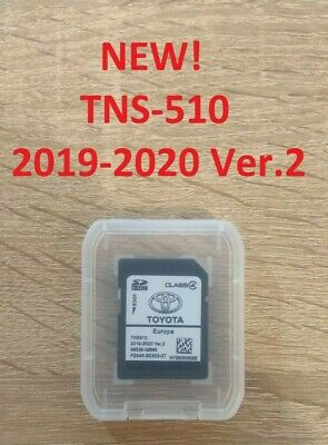 Toyota TNS 510 2019-2020 Ver.1 SD Card EUROPE SAT NAV MAP UPDATE PZ445-SD333-0S