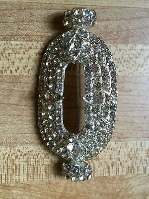 Rare Signed Antique H. Pomerantz & Co NY 1960 AB Rhinestone Large Brooch Pin
